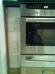 Kitchen in Royal Tunbridge Wells after David Haugh refit image 3, controls for appliances.